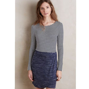 Anthro Dolan Navy Striped Left Coast Dress Medium